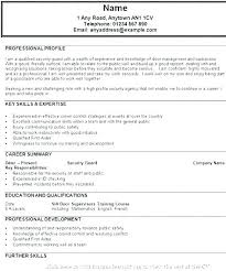 Sample Resume For Security Guard Unarmed Officer Jobs Job Description