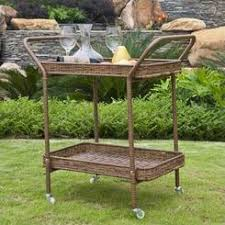 Rolling Serving Cart For Outdoors