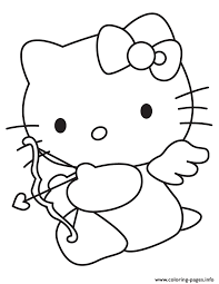 Hello Kitty S Valentines Day Cupid692b Coloring Pages Print Download 398 Prints
