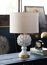 Destinations By Regina Andrew Lamps by Regina Andrew Design Leafy Artichoke Ceramic Table Lamp Off White