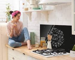 grazdesign rückwand küche küchensprüche nischenrückwand