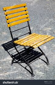 Classic French Design Outdoor Folding Chair Stock Photo ...