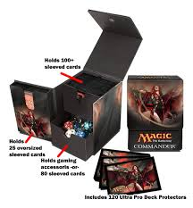 ultra pro commander tower accessories set deck box sleeves