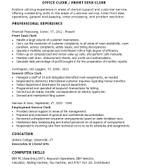 Hotel Front Desk Resume Skills by Front Desk Hotel Resume Free Resume Example And Writing Download