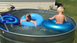 Galvanized Stock Tank Bathtub by Swimming In Our Stock Tank Pool 2015 Youtube