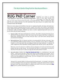 Felt Rug Pads For Hardwood Floors by The Best Kind Of Rug Pad For Hardwood Floors