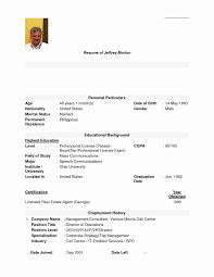 Sample Resume For Call Center Job Without Experience Refrence Elegant Agent Applicant Templates