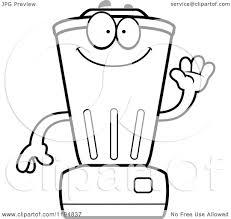 1080x1024 Cartoon Of A Black And White Waving Blender Mascot