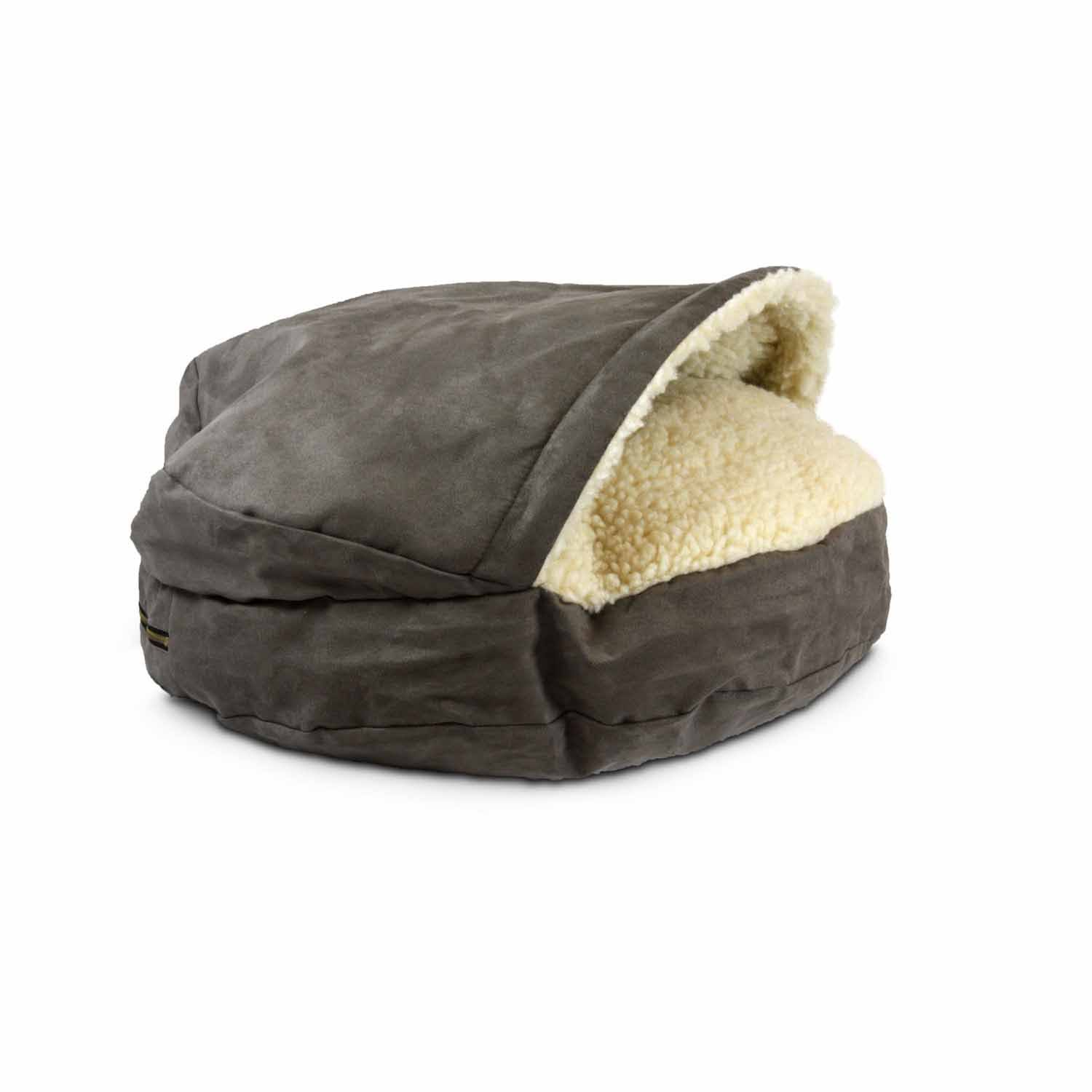 Snoozer Luxury Cozy Cave Pet Bed - Dark Chocolate, Small