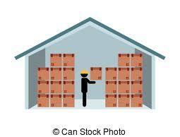 Warehouse Clipart Vector 2