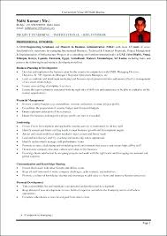 Resumes For Mba Sample Resume Candidate Together With Samples A