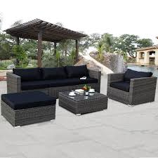 Summer Outdoor Modular Sofa Set II White Cushions 2 Year Warranty