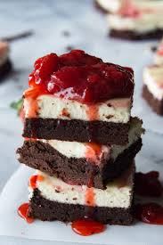 Strawberry Cheesecake Brownies These homemade brownies are loaded up with a layer of creamy cheesecake