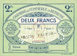 banknotes emergency notes béthune 62 chambre de commerce