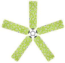 Decorative Ceiling Fan Blade Covers by Fan Blade Designs 6500 Ceiling Fan Blade Covers Daisies