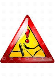 Step on the same rake warning icon Royalty Free Vector Clip Art