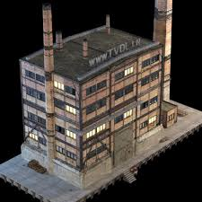 3D Abandoned Factory Building 149 CGTrader