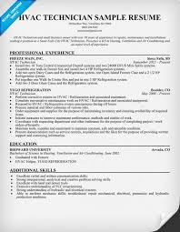 HVAC Technician Resume Sample Resumecompanion
