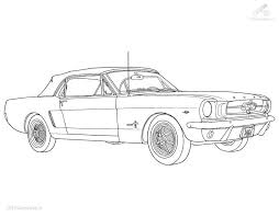 Racing Car Ford Mustang Coloring Page