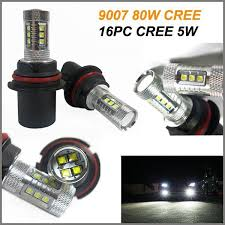 x 9007 cree led light bulbs cars motorcycle led light 9007 80w