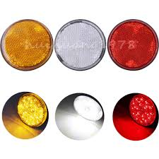 New 2pcs Universal LED Round Reflector Brake Stop Marker Light ... Buy 10 Pcs Tmh 25 Red Light Lens Super Flux Side Led 5x264146cl Amber Led Cab Roof Marker Running Lights Clear For Atomicdsobingcabmarkightsfordtruckamberlens Chicken Lightsmarker Lights Lets See Some Pics Of Em Page 2 Truck Marker Youtube 5xteardrop Yellow Top Clearance For Szhen Idun Photoelectric Technology Co Ltd Truck Bragan Specific Hand Polished Stainless Steel Under Bumper Low 12v 24v Lamp Car Trailer Shop 100 Waterproof Universal 2011 Ford F150 Fx4 Raptor Inspired Grille