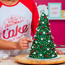 Trim Your Christmas Tree Cake