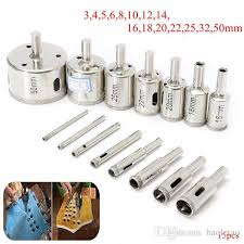 2017 3 50mm diamond hole saw drill bit set for tile ceramic glass