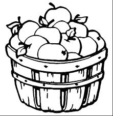 Apples And Bananas Coloring Pages Fall Printable Apple Page Print Free Colouring Tree
