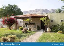 100 Kalia Living A Pretty House In Kibbutz Dead Sea Israel Editorial