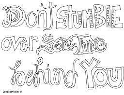 Dontstumble Quote Coloring PagesColoring
