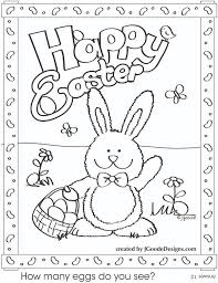 Bunny Coloring Pages Vintage Easter