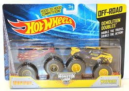 2016 Hot Wheels Off-Road Monster Jam Demolition Doubles Iron Man ...