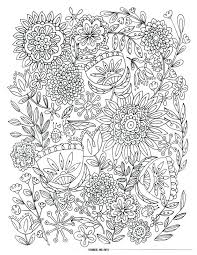 Color Pages For Christmas Free Adults To Print Coloring Difficult Flower Love Bugs Flowers Page