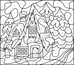 Color By Number Coloring Pages For Adults Advanced