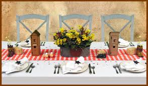 Country Western Theme Dinner Decorating