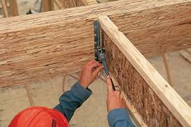Installing Ceiling Joist Hangers by Red I I Joists Engineered Wood I Joists For Floors And Ceilings
