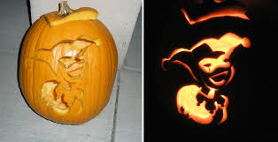 Harley Quinn Pumpkin Template by Joker Pumpkin By Yxzy On Deviantart