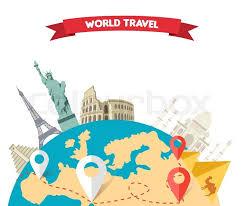 Travel World Globe Map Around The Tou