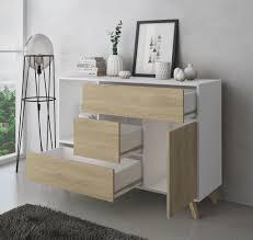 esszimmer sideboard zusatzmöbel buffet wind 1 tür 3 schubladen farbstruktur weiß und farbe tür und schubladen puccini maße 120x40x86cm