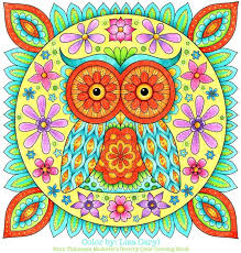 Owl Coloring Page Groovy Owls Book Enchanted Forest Finished Colorama Animal Kingdom