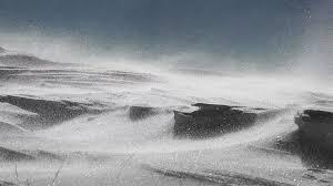 4k Arctic Alaska Storm Snow Drift High Wind