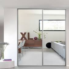 1 porte de placard coulissante miroir 92 2 x 247 5 cm valla