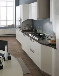 grey white kitchen design and decoration using light blue grey