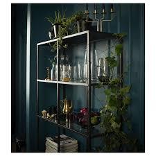 vittsjö regal schwarzbraun glas 100x175 cm