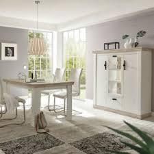 details zu highboard buffetschrank esstisch esszimmer set anrichte kommode landhaus in weiß