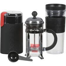 Bodum CHAMBORD Set French Press Coffee MakerElectric Grinder Mug