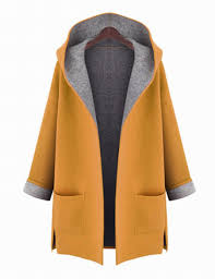 solid hooded woolen cashmere female cashmere coat women winter