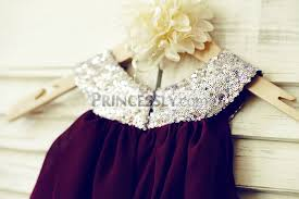 boho beach purple plum chiffon sequin cupcake flower dress