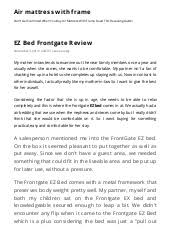 Ez Bed Frontgate by Ez Bed Frontgate Review