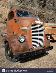 A 1947 Dodge Cabover Truck, In An Stone Old Quarry, East Of Clark ...